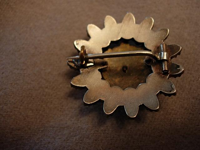 Victorian Cluster Garnet Brooch
