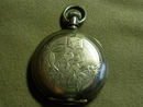 Elgin Silver Victorian Lapel Watch