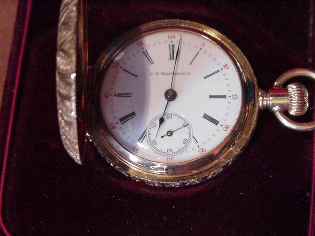 Lady's Circa 1900 14kt Yellow Gold Lapel Watch