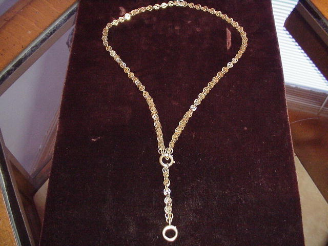 Wonderful 15Kt  Link Victorian Chain