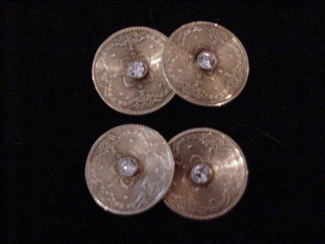 American, Larter & Sons Gold Diam Cufflinks