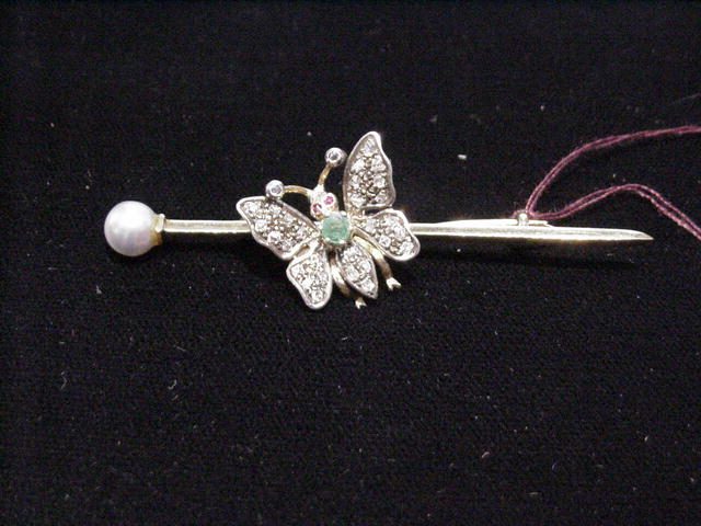 Lady's Diamond and Emerald Butterfly