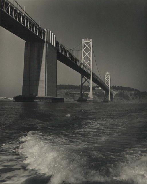 Bay Bridge, with Waves