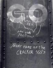 Don Longanecker: Chalk Graffiti #7 (Oklahoma; Texas)
