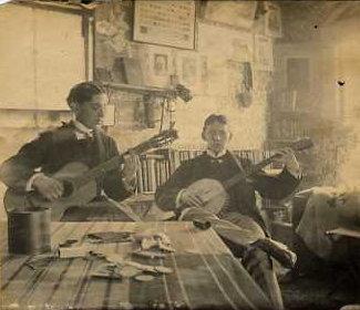 Banjo and Guitar Players