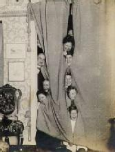 Found Image - People Behind Curtain