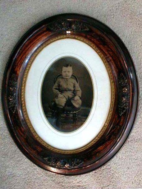 Framed Tintype: Boy on a Chair