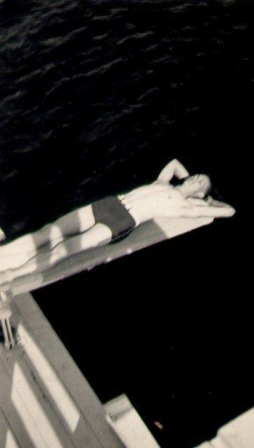 Found Image - Boy on Diving Board