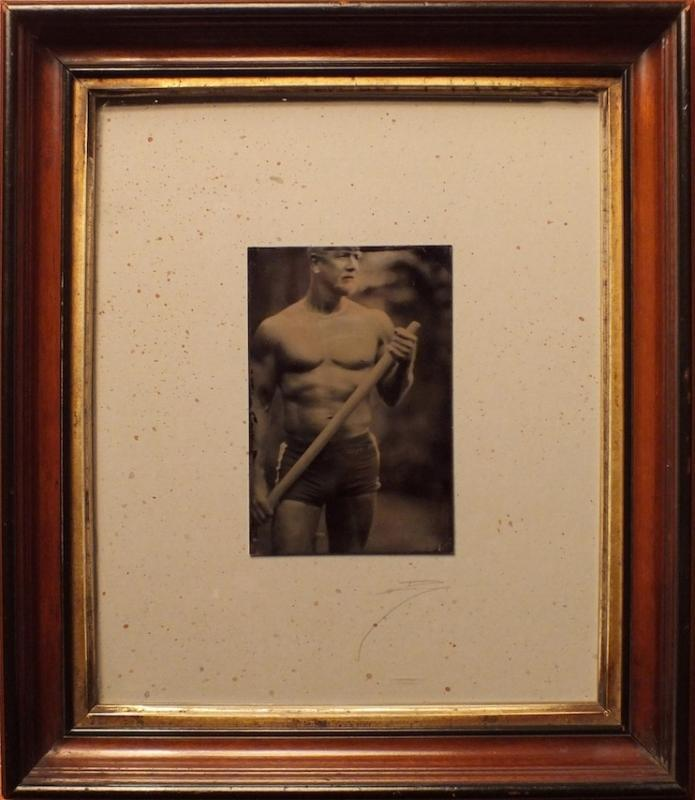 David Sokosh: John with Oar, Provincetown, Brooklyn - Triptych, Brooklyn - tintype