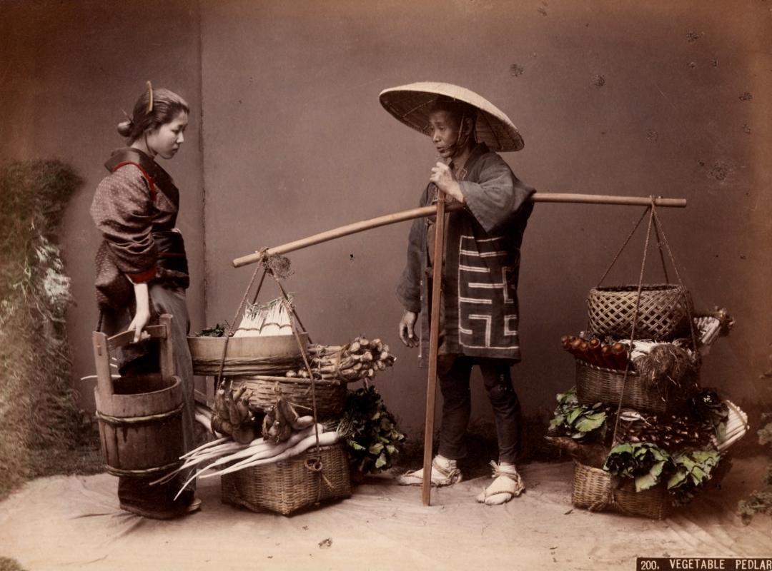 Kimbei: Vegetable Pedlar