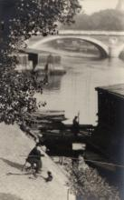 William C. Odiorne: Barges on the Seine, Paris