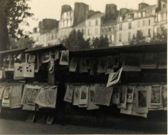 William C. Odiorne: Print Stalls on the Seine, Paris