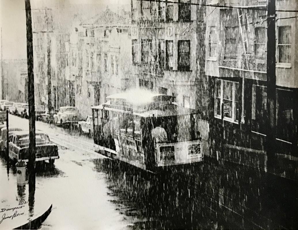 Jimo Perini: Cable Car in the Rain