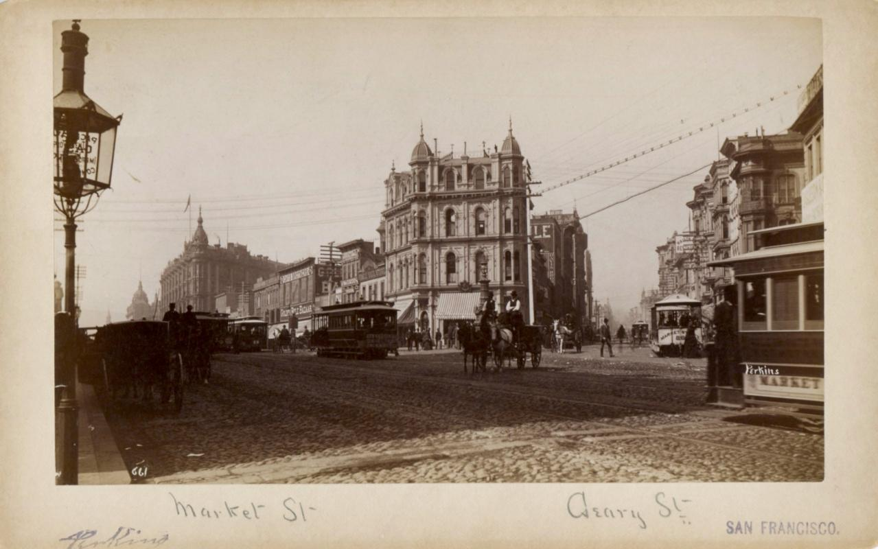 San Francisco: Geary and Market Street, c.1890