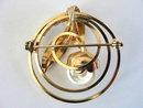 Vintage Flower Pin Earring Set Imitation Pearl Lentils Aurora Borealis Rhinestones