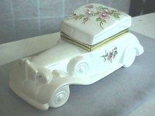 Jeweled Auto Vanity Hinged Box,Sgnd,Italy