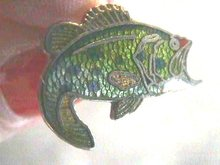 Enameled Fish Tac, Tie, Signed