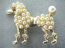 Multi Pearl Poodle Pin, Absolutely Beautiful!
