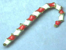 Enameled Candy Cane Pin