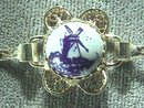 Dutch Delft Bracelet,Prcd Ers Set, Silver,Orig Box