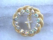 Cross Circle Pin w/A/B and Braided