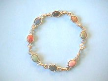 Scarabs 14KWGF Bracelet, Van Dell, Beautiful!