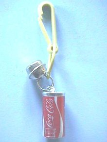 Coca Cola Minature Can with Bell and Clip