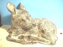 Lying Fawn Sculpture,The Wolf Sculptures,Nice