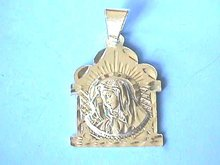 Mary Sterling Medal, Large Bail, D/C, Pendant