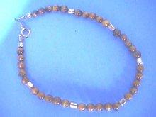 Tigereye 14KGF Bracelet, 7 1/4 inches,Petite
