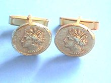 ALVA  Museum Cufflinks, Roman Coin, Nice!
