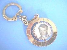 Kennedy(s)John & Robert,Bubble Keychain,B&w