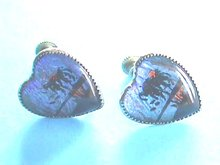 Butterfly Wing Earrings,Vint, Heart-shaped,Silver