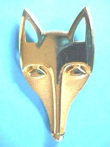 Fox Head Brooch,Matte,Gloss,Nice Design!