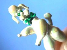 Poodle Trembler Pin,Vintage,Head moves,Cute!