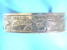 Tenorio Sterling Cuff,COA, New, Detailed,Pueblo