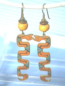 Laurel Burch Earrings,'Serpent Spirit', Wild!