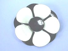 Flower Power Pin,Black & White,Vintage,1960s