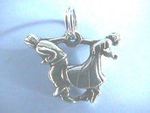 Swinger Dancing Couple,Sterling,Charm/Pend