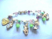 Florida Tourist Bracelet,Vintage,5 Charms,Pretty!