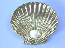 CrTrifari Pin, Clam Shell, Pearl, Alfred Philippe