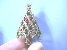 Christmas Tree Pin,Multi-Colored,Small, Nice!
