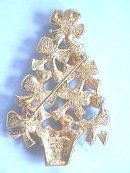 Christmas Tree Pin, Ribbons,A/B,Sgnd,Book Pc