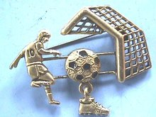 Soccer Game Pin,Moving,Player,Ball,Goalpost!