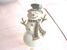 Wonderful Snowman Pin,Lot of Cheer,Very Nice!