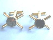 Bloodstone (Fx) Cuff Links,X design,Very Nice!