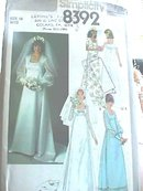 1978 Bridal Dress,Bridesmaid's,Simplicity,sz14