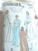 1970s Bridal Gown,Butterick,sz14,Vintage