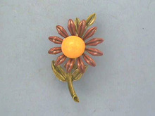 Flower Power Pin,1960s,Brown Eyed Susan,Petite