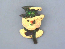 Snowsnickle Snowman Pin,Nickel in back